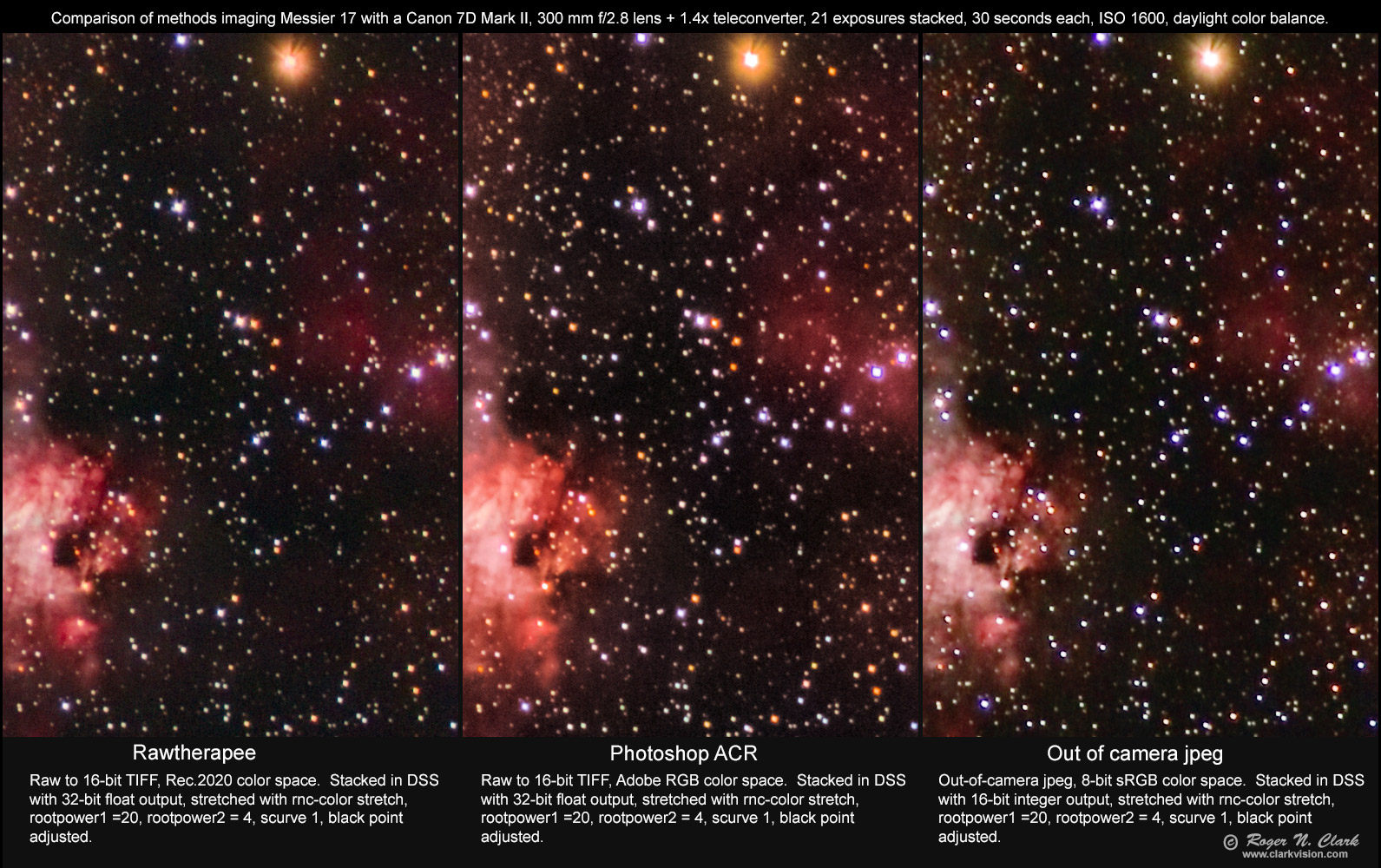 Best Raw Converter 2020 Astrophotography with RawTherapee, Clarkvision.com
