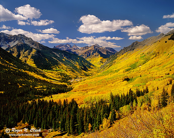 clarkvision photograph ophir valley colorado in the fall